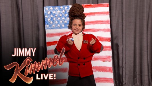 Jimmy Kimmel Lets A Little Girl Adorably Mock Sarah Palin On Her 52nd Birthday (VIDEO)