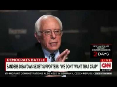 Sanders BLASTS Misogynist 'Bernie Bro' Fans: 'I Don't Want That Crap, I Don't Want Them' (VIDEO)
